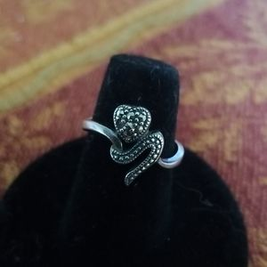 Marcasite heart ring #19